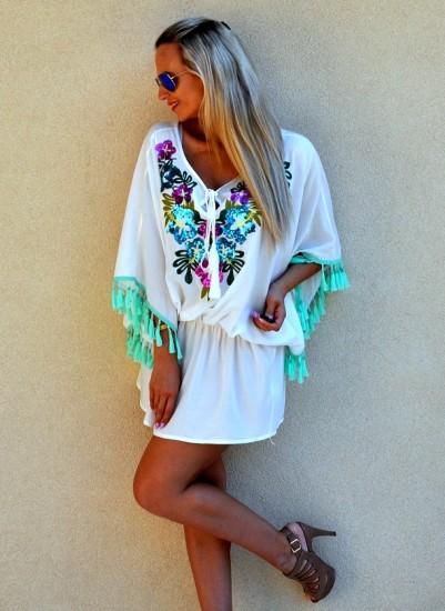 Plážové šaty tunika CATERINA » Mánnia 1a4ae67c84
