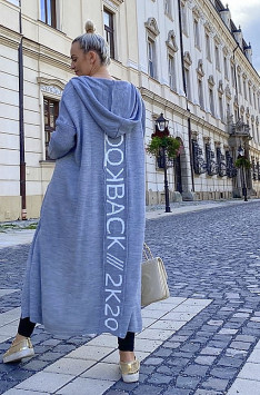 Maxi cardigan BACK (gray)