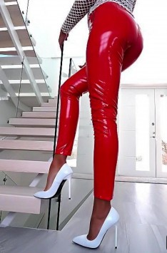 Latexové legíny LEE (red)